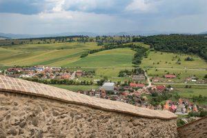 Látkép a Kőhalmi várból