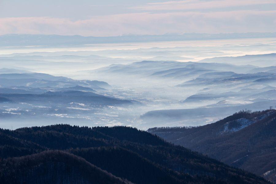 Erdély télen Szovátáról nézve