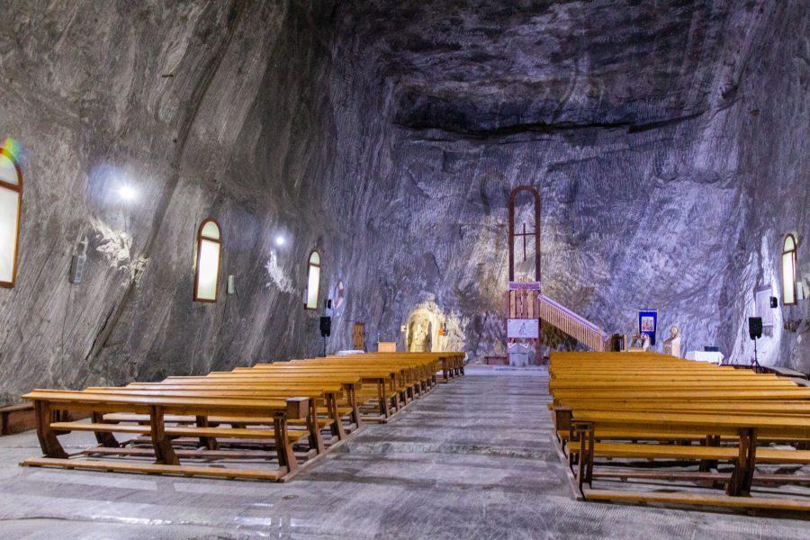 Templom a Parajdi Sóbányában