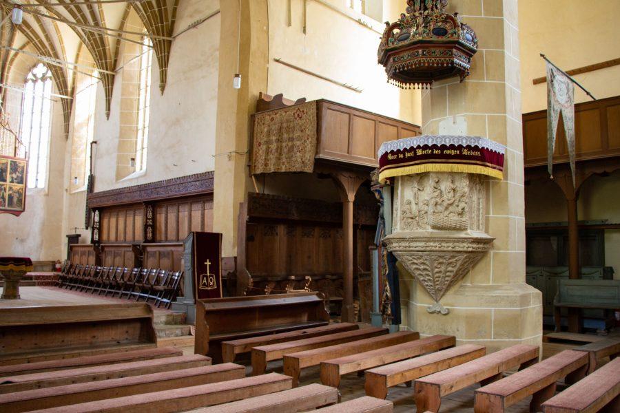 A templom belseje