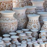 Fehér korondi kerámia vázák