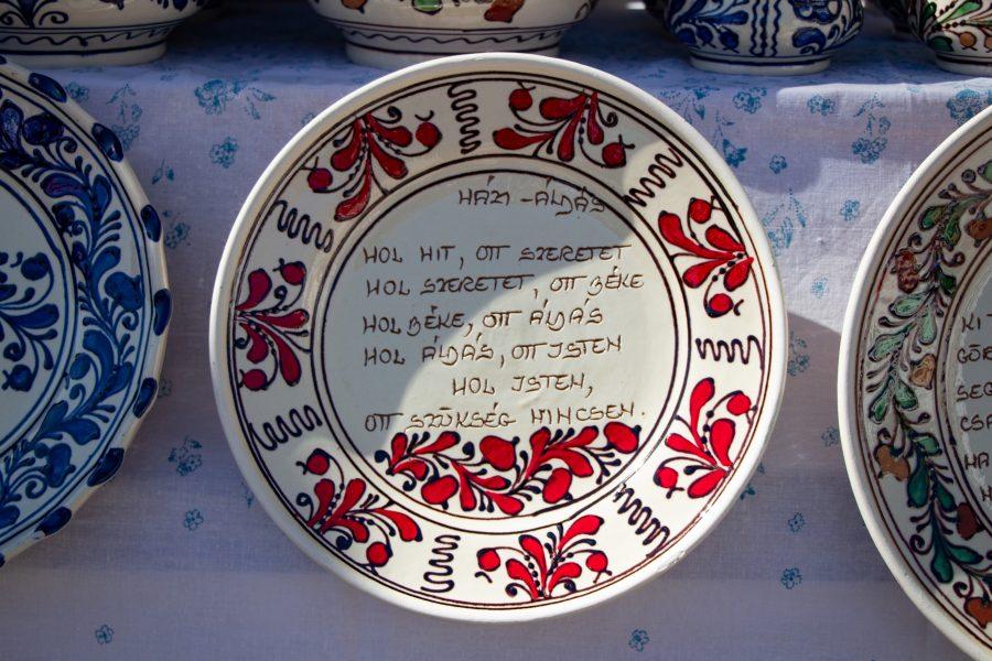 Házi áldás - Korondi kerámia tányér