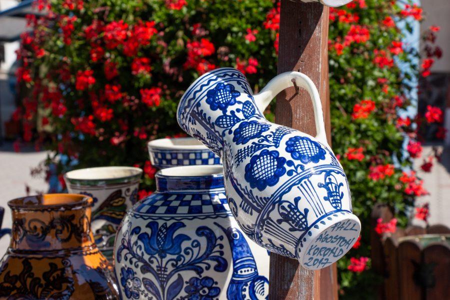 Kék korondi váza
