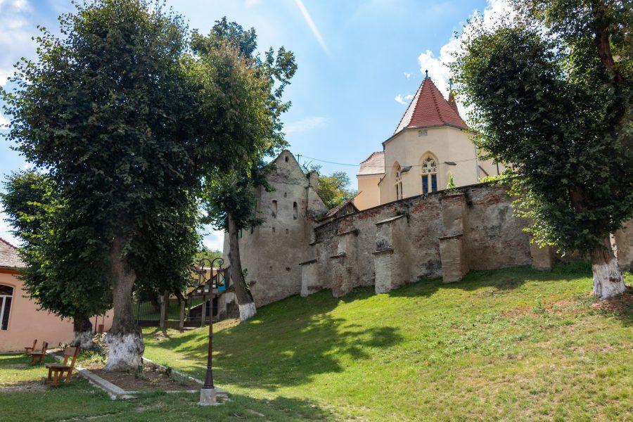 A Szászsárosi evangélikus erődtemplomba bejárata
