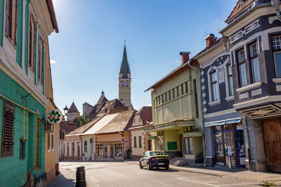 Medgyes megyei jogú város Romániában, Erdélyben, Szeben megyében.