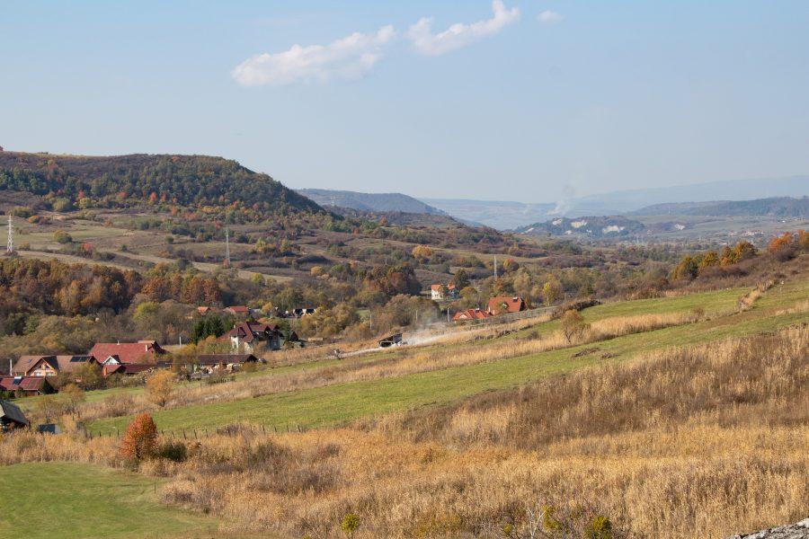 A Felső-Sóvidék látképe a Korondi Csigadombi kilátótól