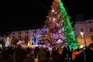 Karácsonyfa Marosvásárhely főterén