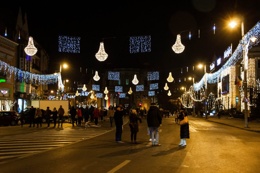Marosvásárhely utcái a téli vásár idején