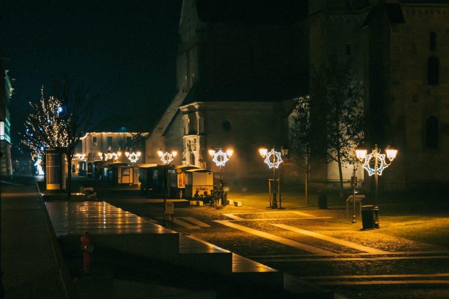 Séta éjszaka a Gyulafehérvári várban