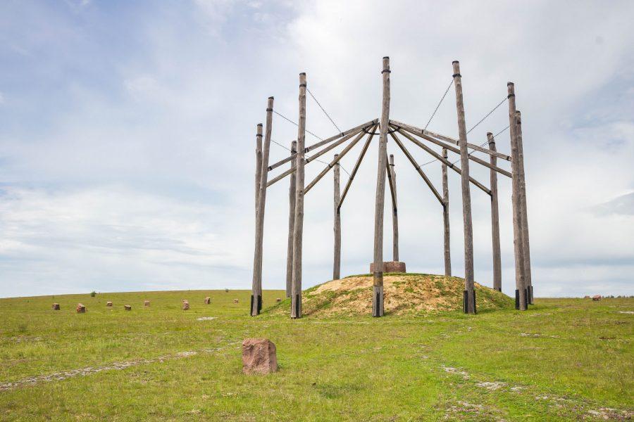 Óriáspince-tető legendája szerint egy óriás élt itt