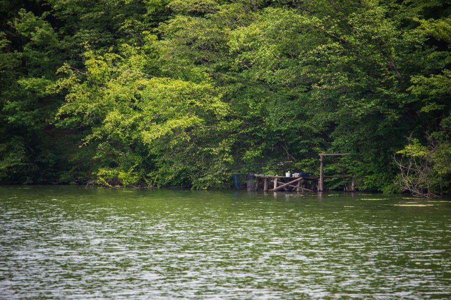 Horgászat a Besenyői-tó partján