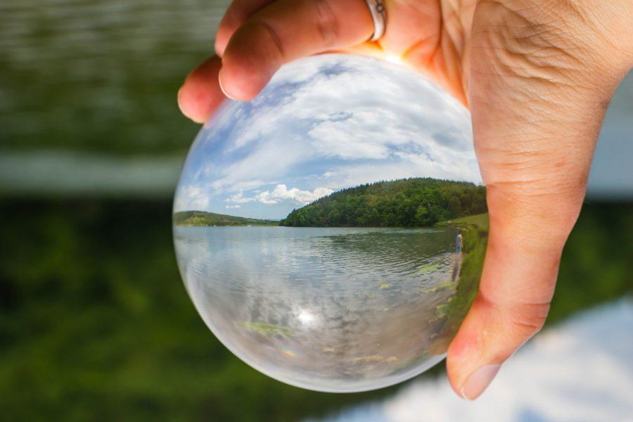 Különleges tóparti kép