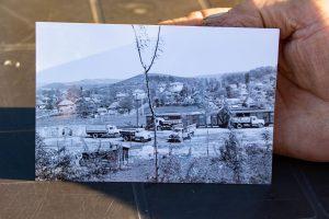 Mezőzáh vonatállomása korabeli fényképen