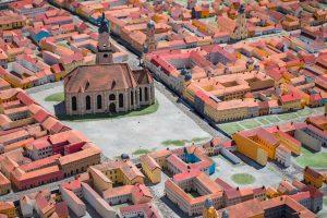 Szépen kidolgozott városmakettek