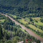 Vasút a Maros folyó útja mentén