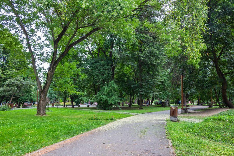A Központi park Csíkszeredában