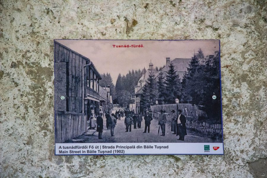 A Tusnádfürdői Fő út - 1902