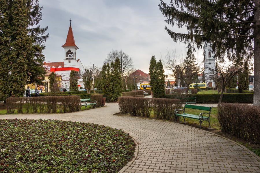 Nyárádszereda központi parkja