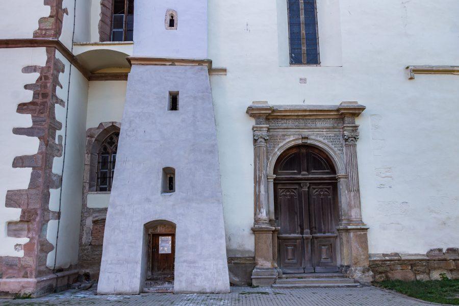 A szász, evangélikus templom bejárata