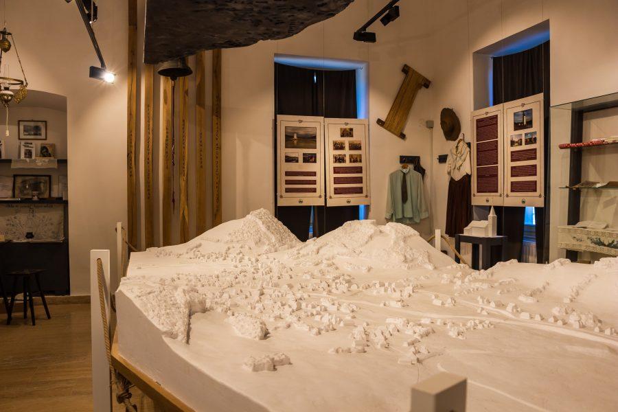 Bözödújfalu makettje az erdőszentgyörgyi Rhédey-kastélyban